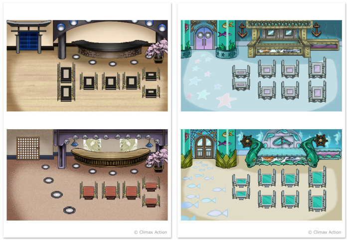 Background illustrations for Diner Dash PSP game